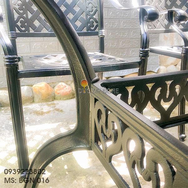 Bàn Ghế Ăn Ngoài Trời Nhôm Đúc - Biệt Thự Nhà Hàng BGN016 - Hình 26