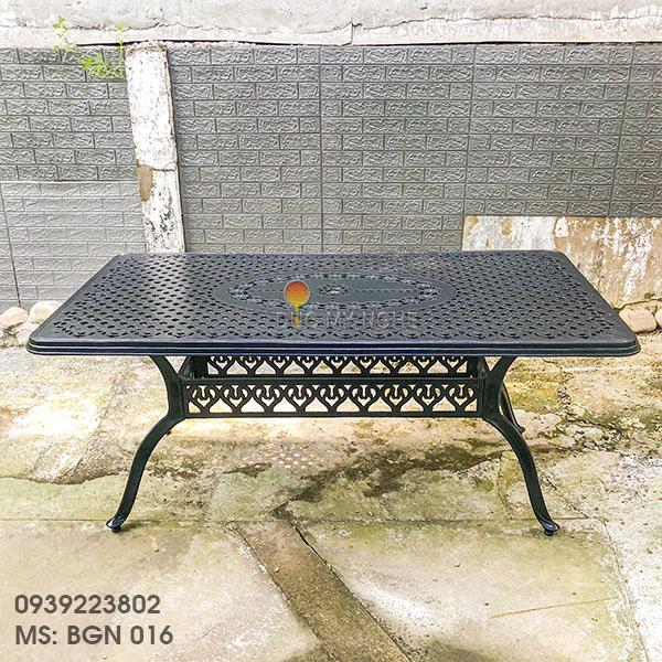 Bàn Ghế Ăn Ngoài Trời Nhôm Đúc - Biệt Thự Nhà Hàng BGN016 - Hình 27