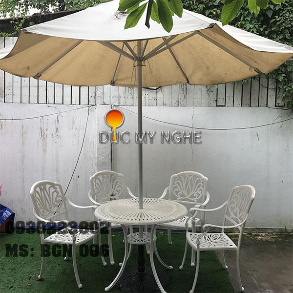 Bàn Ghế Cafe Ngoài Trời Nhôm Đúc - Biệt Thự Nhà Hàng BGN006 - Hình 6