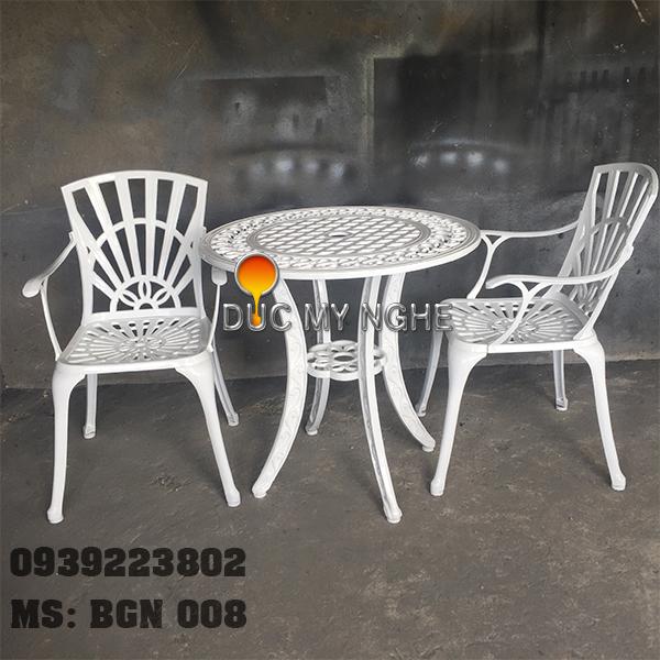 Bàn Ghế Ngoài Trời Nhôm Đúc - Nhà Hàng Khách Sạn BGN008 - Hình 4