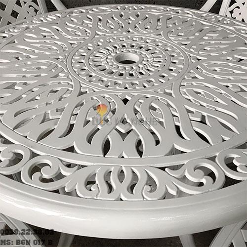 Bàn Ghế Nhôm Đúc Sân Vườn Ngoài Trời - Cafe Nhà Hàng BGN017B - Hình 3