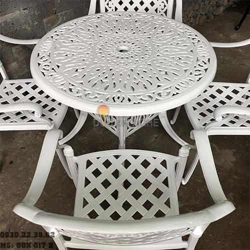 Bàn Ghế Nhôm Đúc Sân Vườn Ngoài Trời - Cafe Nhà Hàng BGN017B - Hình 4