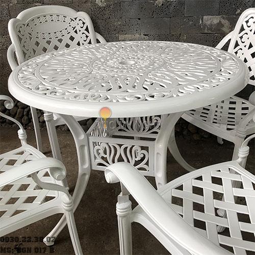 Bàn Ghế Nhôm Đúc Sân Vườn Ngoài Trời - Cafe Nhà Hàng BGN017B - Hình 5
