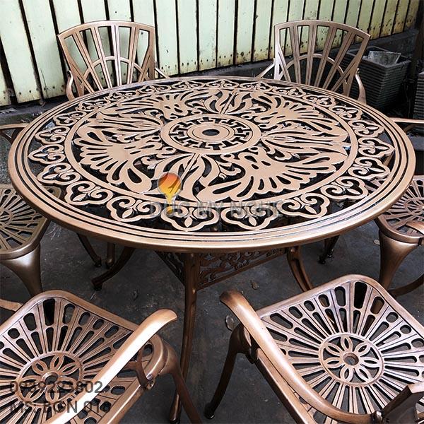 Bàn Ghế Nhôm Đúc Ngoài Trời Sân Vườn Biệt Thự Cao Cấp BGN 018 - Hình 6