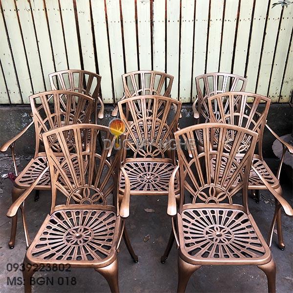 Bàn Ghế Nhôm Đúc Ngoài Trời Sân Vườn Biệt Thự Cao Cấp BGN 018 - Hình 10