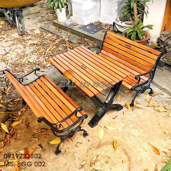 Bàn Ghế Sân Vườn Gang Đúc Ngoài Trời Cao Cấp Đẹp Ở Hcm BGG 002 - Hình 1