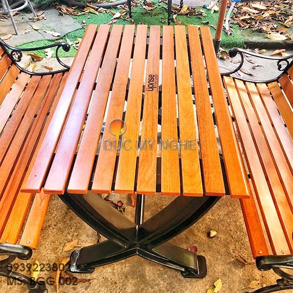 Bàn Ghế Sân Vườn Gang Đúc Ngoài Trời Cao Cấp Đẹp Ở Hcm BGG 002 - Hình 7