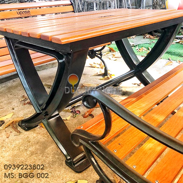 Bàn Ghế Sân Vườn Gang Đúc Ngoài Trời Cao Cấp Đẹp Ở Hcm BGG 002 - Hình 9