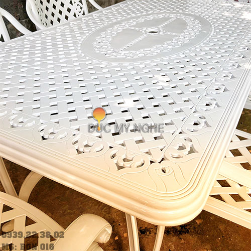 Bàn Ghế Ăn Ngoài Trời Nhôm Đúc - Biệt Thự Nhà Hàng BGN016 - Hình 5