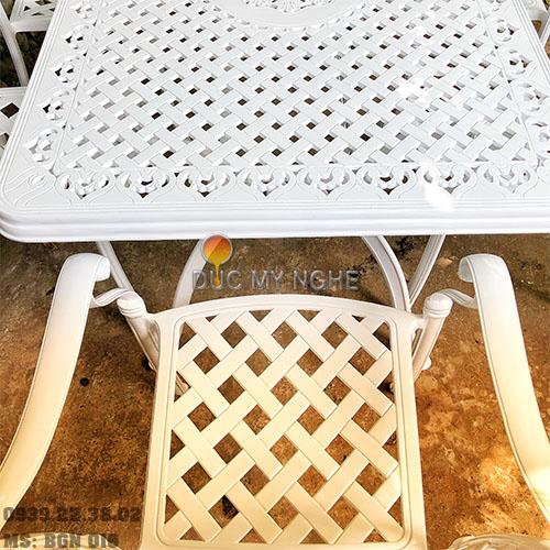 Bàn Ghế Ăn Ngoài Trời Nhôm Đúc - Biệt Thự Nhà Hàng BGN016 - Hình 8