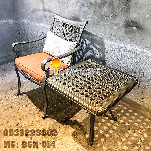 Bàn Ghế Hồ Bơi Nhôm Đúc Ngoài Trời - Khách Sạn Resort BGN014 - Hình 2