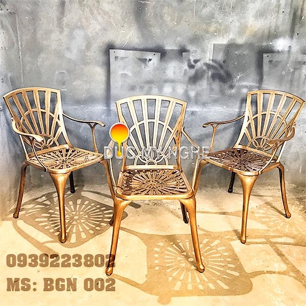 Bàn Ghế Sân Vườn Hợp Kim Nhôm Đúc Gia Đình Khách Sạn BGN002 - Hình 2