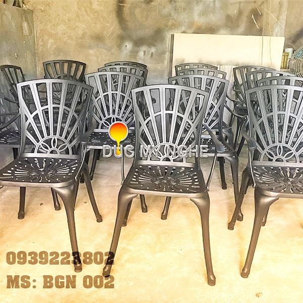 Bàn Ghế Sân Vườn Hợp Kim Nhôm Đúc Gia Đình Khách Sạn BGN002 - Hình 6
