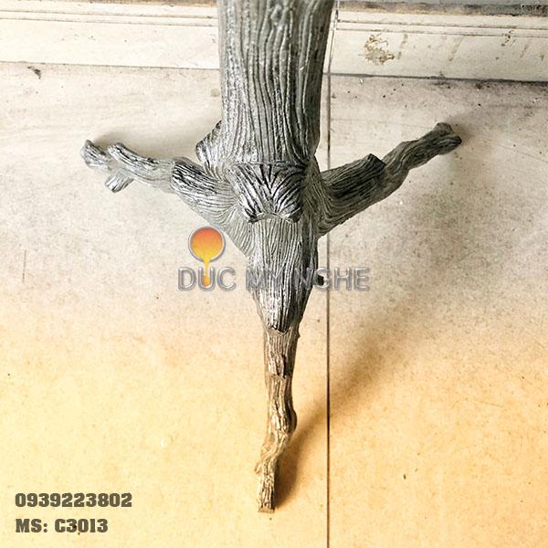 Chân Bàn Nhôm Đúc Ngoài Trời 3 Chân - Sản Xuất Theo Thiết Kế Bản Vẽ C3013 - Hình 3