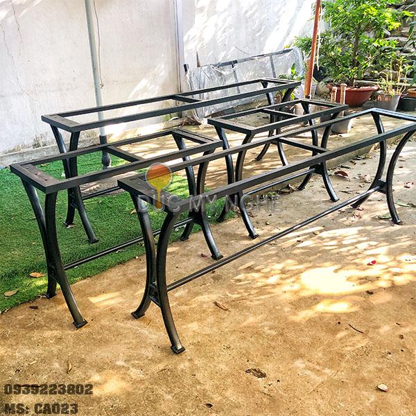 Chân Bàn Ăn Cafe Nhà Hàng Sắt Khung Gang Đúc Ngoài Trời CA023 - Hình 11