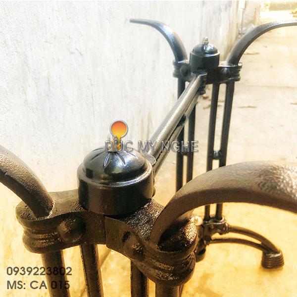 Chân Bàn Ăn Đôi Gang Đúc - Trà Sữa Cafe Nhà Hàng Quán Ăn CA015 - Hình 7