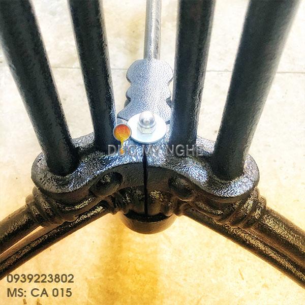 Chân Bàn Ăn Đôi Gang Đúc - Trà Sữa Cafe Nhà Hàng Quán Ăn CA015 - Hình 10