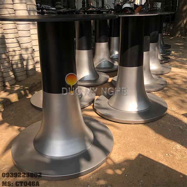 Chân Bàn Ăn Nhà Hàng Khách Sạn Đế Tròn 600mm Gang Đúc CT046 - Hình 7