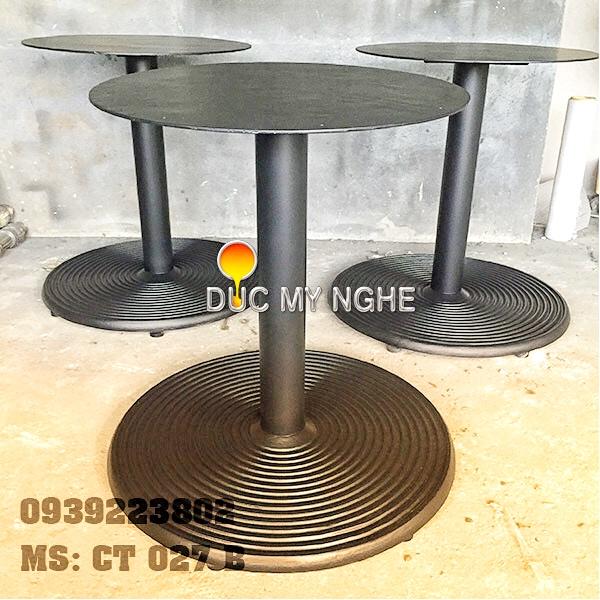 Chân Bàn Ăn Nhà Hàng Sắt Ống Đế Tròn 650mm Gang Đúc CT027B - Hình 6