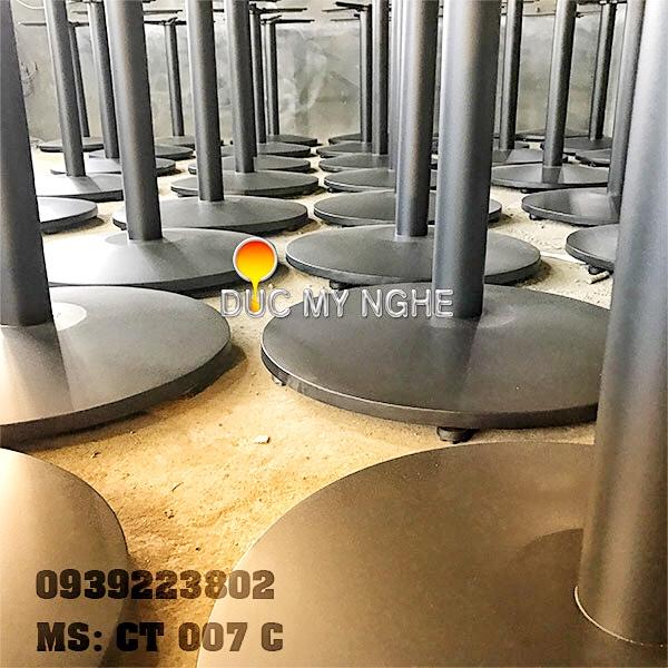 Chân Bàn Buffet Nhà Hàng Sắt Ống Đế Tròn 550mm Gang Đúc CT007C - Hình 10