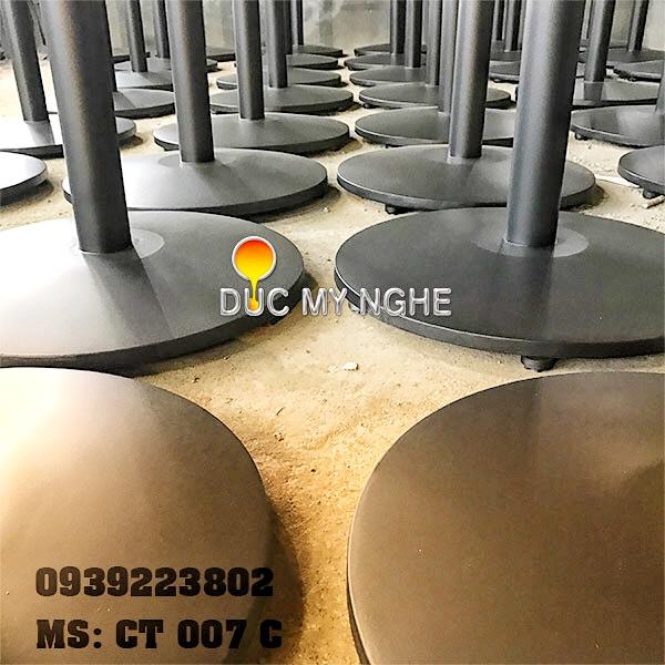 Chân Bàn Buffet Nhà Hàng Sắt Ống Đế Tròn 550mm Gang Đúc CT007C - Hình 11