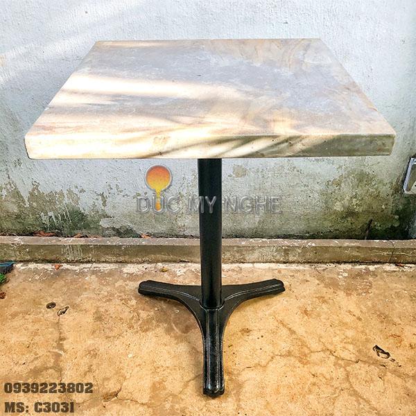 Chân Bàn Cà Phê Gang Đúc Sắt Ống 3 Chân Ngoài Trời Đẹp Quán Ăn Trà Sữa C3031 - Hình 5
