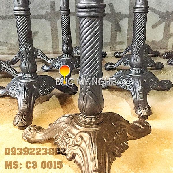 Chân Bàn Gang Đúc Cafe 3 Chân Ngoài Trời Đẹp - Thiết Kế Sản Xuất ở Tphcm C3015 - Hình 8