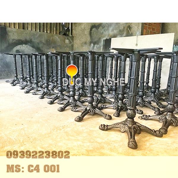 Chân Bàn Cafe Gang Đúc Ngoài Trời 4 Chân Đầu Lân Mẫu Đẹp Ở Tphcm C4001 - Hình 10