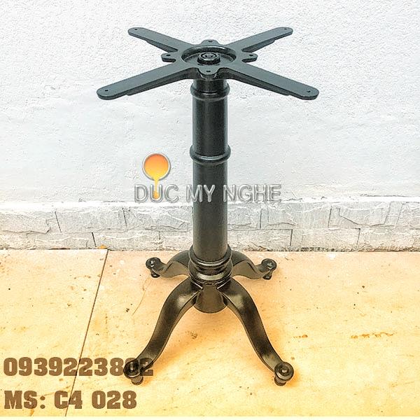 Chân bàn cafe 4 chân kiểu dáng cổ điển Gang đúc C4028 - Hình 2