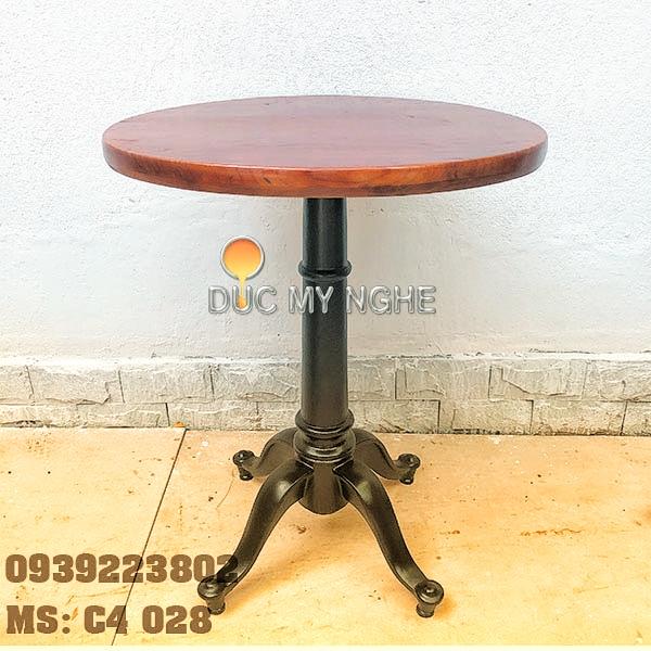 Chân bàn cafe 4 chân kiểu dáng cổ điển Gang đúc C4028 - Hình 3