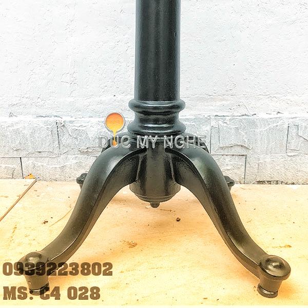 Chân bàn cafe 4 chân kiểu dáng cổ điển Gang đúc C4028 - Hình 7