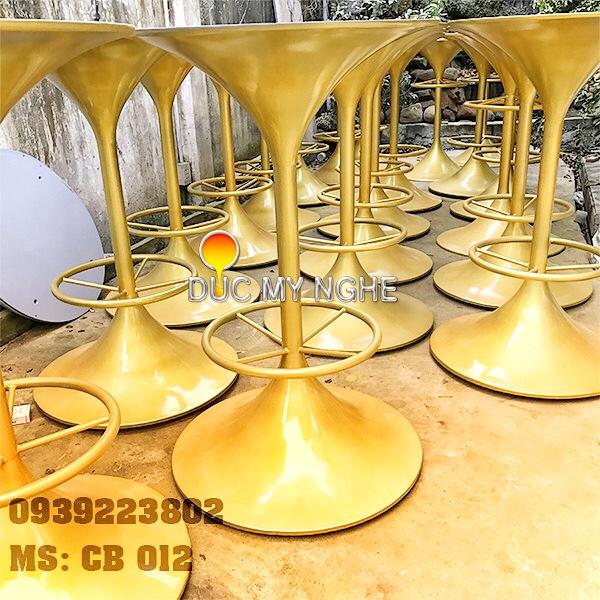 Chân Bàn Cafe Bar Nhà Hàng Đế Tròn Tulip Gang Đúc CB012 - Hình 7