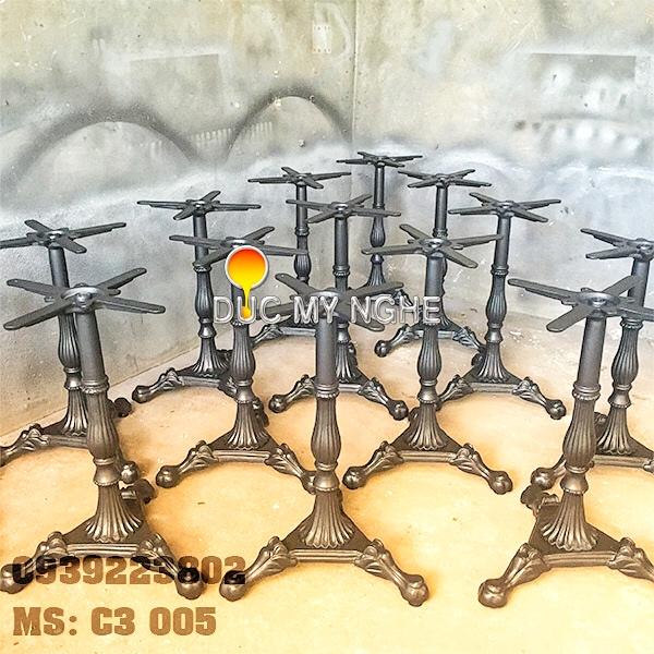 Chân Bàn Cafe Gang Đúc Nhà Hàng 3 Chân Mẫu Thiết Kế Sản Xuất Ở Tphcm C3005 - Hình 2
