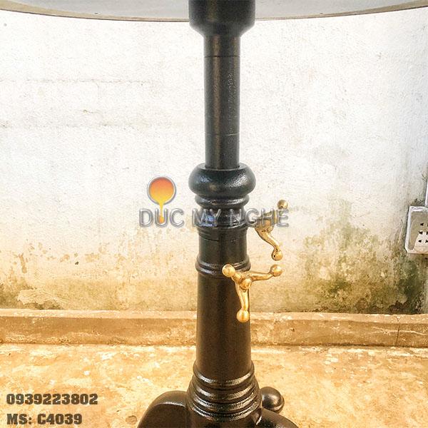 Chân Bàn Cafe Nhà hàng Ngoài Trời Nhôm Đúc Tăng Cao Thấp C4039 - Hình 7