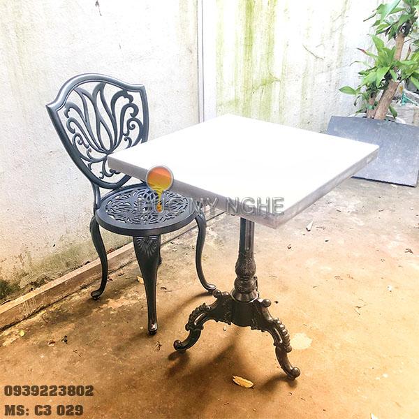 Chân Bàn Cafe Nhôm Đúc 1 Trụ Ngoài Trời Sân Vườn Nhà Hàng Cao Cấp Ở Tphcm C3029 - Hình 5