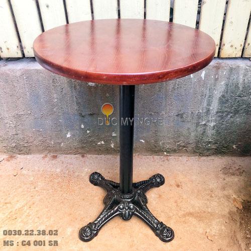 Chân Bàn Cafe Gang Đúc Giá Rẻ Đẹp Trụ Sắt 4 Chân Trà Sữa Tại Tphcm C4001SR - Hình 3