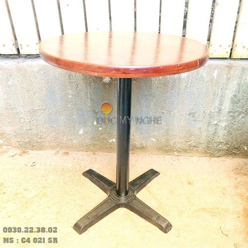 Chân Bàn Cafe Gang Đúc Giá Rẻ Đẹp Trụ Sắt 4 Chân Ngoài Trời Sân Vườn Ở Tphcm C4021SR - Hình 6