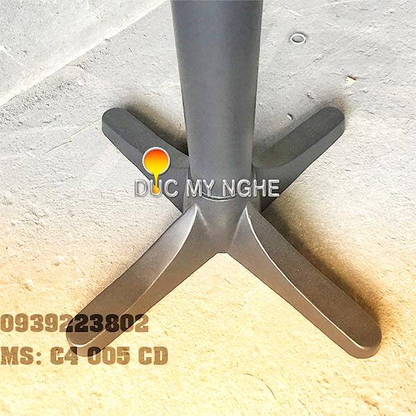 Chân Bàn Gang Đúc Mẫu Đẹp Đế Chữ Thập Thân Trụ Sắt Sơn Tĩnh Điện Ngoài Trời C4005CD - Hình 3