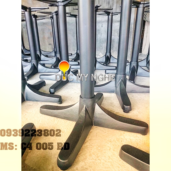 Chân Bàn Gang Đúc Đẹp Chữ Thập - Quán Ăn Cafe Trà Sữa Ở Hcm C4005BD - Hình 7