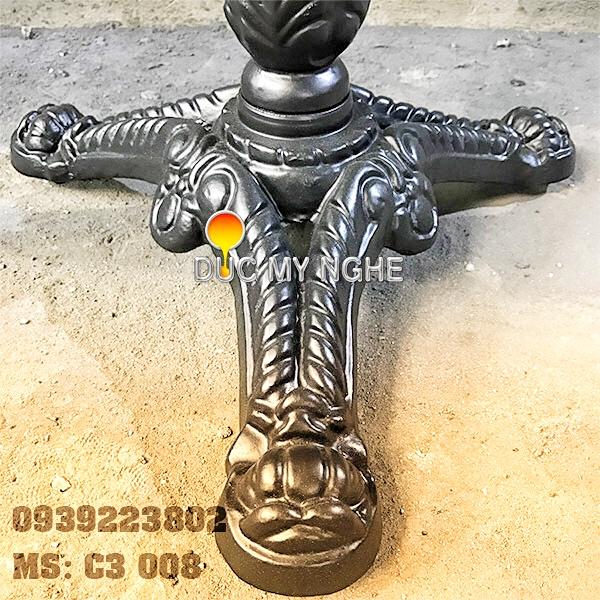 Chân Bàn Cafe Gang Đúc Coffee Bean 3 Chân Ngoài Trời - Nhà Hàng Trà Sữa ở Hà Nội C3008 - Hình 4