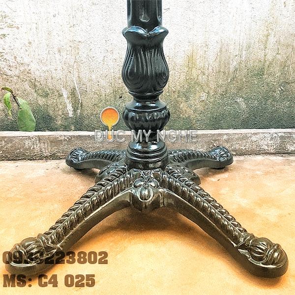 Chân Bàn Nhà Hàng - 4 Nhánh Hoa Văn Gang Đúc Cổ Điển C4025 - Hình 3