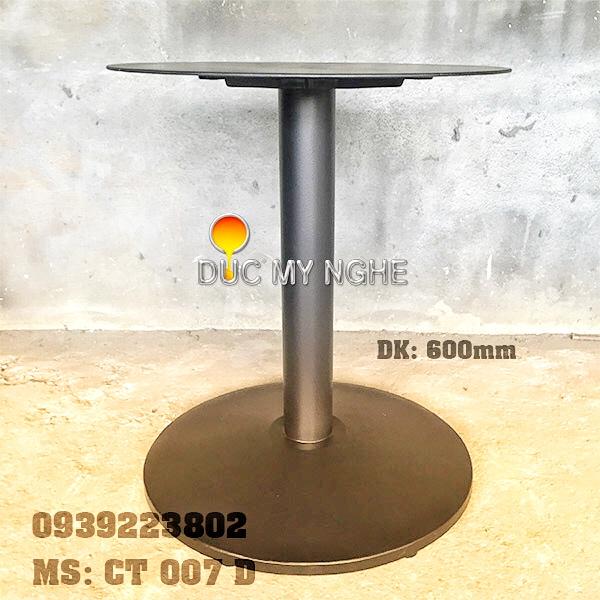 Chân Bàn Nhà Hàng Sắt Ống Đế Tròn 600mm Gang Đúc CT007D - Hình 1