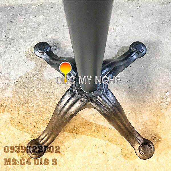 Chân Bàn Ống Sắt - Đế Chữ Thập Gang Đúc Sơn Tĩnh Điện C4018S - Hình 4