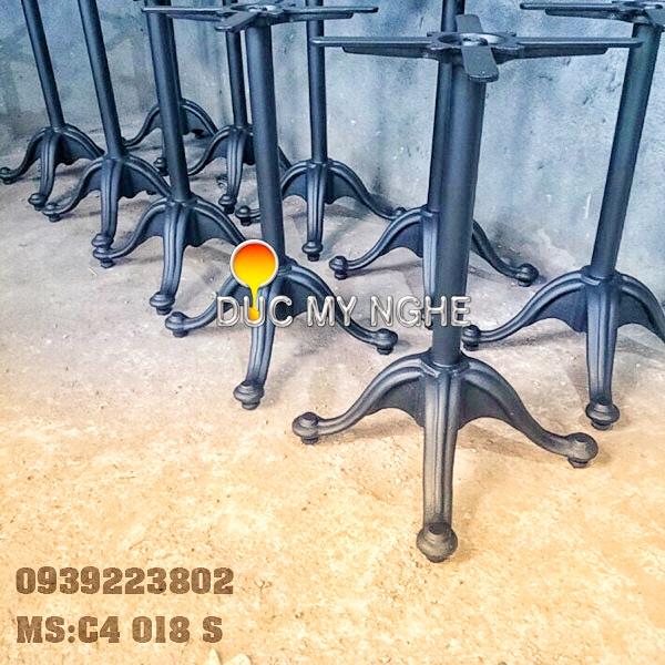 Chân Bàn Ống Sắt - Đế Chữ Thập Gang Đúc Sơn Tĩnh Điện C4018S - Hình 9