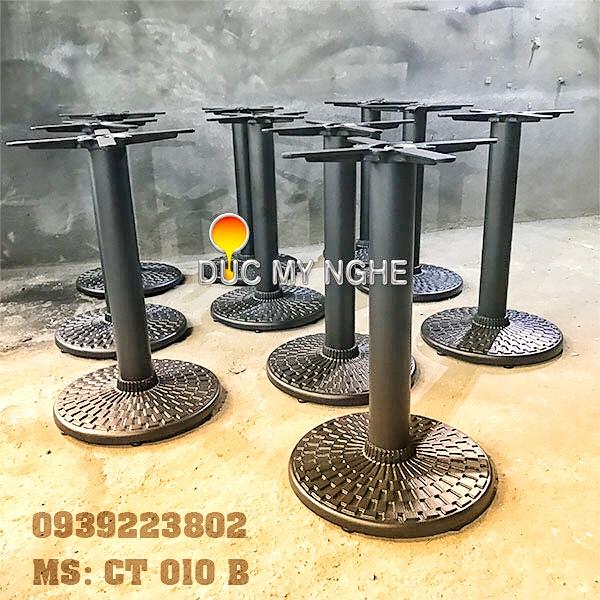 Chân Bàn Quán Ăn Nhanh Trụ Sắt Đế Tròn 450mm Gang đúc CT010B - Hình 4