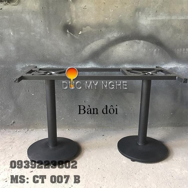 Chân Bàn Gang Đúc Trụ Sắt Đế Tròn 450mm Ngoài Trời CT007B - Hình 8