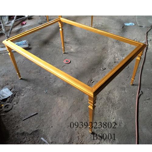 Chân Bàn Sofa Nhôm Đúc Gia Đình Nhà Hàng Khách Sạn BS001 - Hình 4