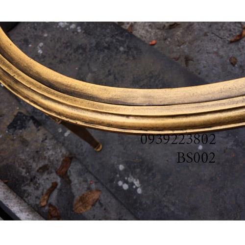 Chân Bàn Sofa Hợp Kim Nhôm Đúc Oval Gắn Mặt Đá Gỗ BS002 - Hình 5