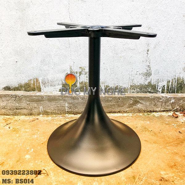 Chân Bàn Trà Sofa Tròn Tulip Nhôm Đúc - Cafe Khách Sạn BS014 - Hình 1