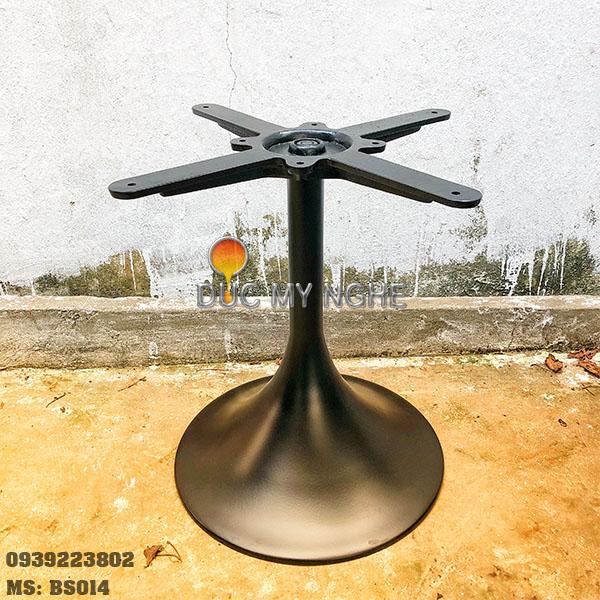 Chân Bàn Trà Sofa Tròn Tulip Nhôm Đúc - Cafe Khách Sạn BS014 - Hình 3
